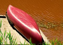 canoe - stock photo