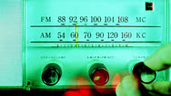 Stock Video Footage of vintage radio dial