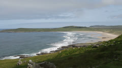 Elevated view of Machir Bay Isle of Islay Scotland Stock Footage