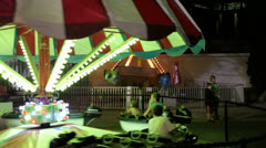 Children's Ride Boats Stock Footage