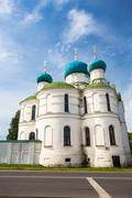 bogoyavlenskii cathedral of uglich city - stock photo