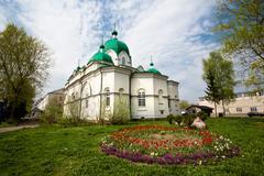 Candlemas church of rybinsk Stock Photos
