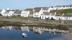 Portnahaven waterfront Isle of Islay Scotland Stock Footage