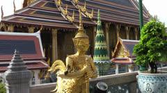 Wat Phra Kaeo, Bangkok, Thailand - stock footage