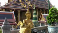 Stock Video Footage of Wat Phra Kaeo, Bangkok, Thailand