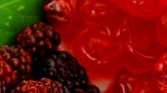 Sweet wild served berry's Stock Footage