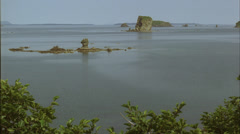Coast line,islands,stacks,scenic,Kodiak,Ak Stock Footage