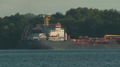 Tanker Ship Algocanada 1 Stock Footage