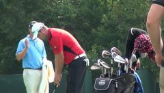 Marc Leishman Putting, Golfers, Golf, 2013 PGA Tournament Stock Footage