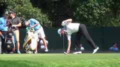 John Senden, Pro Golfer Teeing Off, Golf, Sports Stock Footage