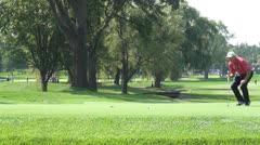 PGA Pro Golfer Putting, Golf, 2D, 3D Stock Footage