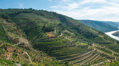 Timelapse in Douro Valley Stock Footage