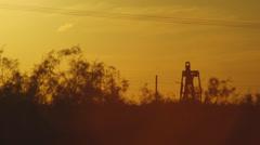 Oil Pump Sunset - stock footage