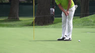 Stock Video Footage of John Huh, PGA Pro Golfer Putting, Golf, 2D, 3D