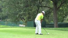 John Huh, Pro Golfer Teeing Off, Golf, Sports, 2D, 3D Stock Footage