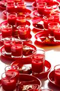 Allusions red candles Stock Photos