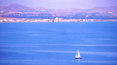 Yacht in the sea. Stock Footage