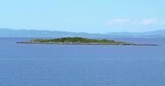 4K Small island near Mljet Stock Footage