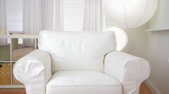 Empty sofa chair in modern living room Stock Footage