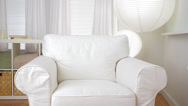 Stock Video Footage of Empty sofa chair in modern living room