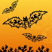 Decorative bat Stock Illustration