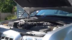 Closing Hood, Motor, Automobile, 2D, 3D - stock footage