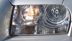 Car Headlights, Signal Lights, Tail Lights, 2D, 3D - stock footage