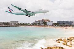 st martin, antilles - july 19: the tourist office and air france signs an agr - stock photo