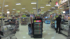 Shopping self checkout time lapse Stock Footage