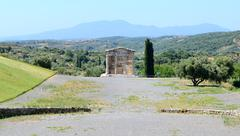 The mausoleum in ancient messene (messinia), peloponnes, greece Stock Photos