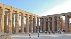 Luxor temple, egypt Stock Photos