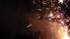 Fireworks Sparkler, Pops, Sizzles, Fun, Sure Attention Getter Stock Footage