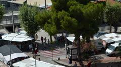 Spanish street market Stock Footage