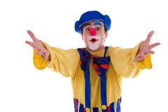 Clown isolated on white background Stock Photos