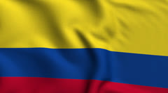 Colombia Weave Textured Flag Loop - stock footage