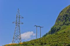 Unfinished transmission tower Stock Photos