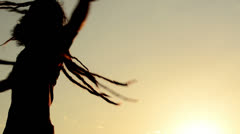 Stock Video Footage of dancing rapper with long dreadlocks