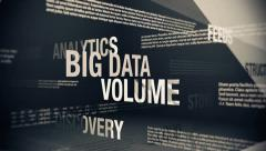 Big Data Related Terms Stock Footage
