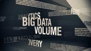 Stock Video Footage of Big Data Related Terms