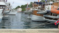 Harbor Pomena on island Mljet Stock Footage