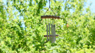 Stock Video Footage of wind chimes in the wind