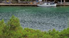 Kayaking at the big lake on island Mljet Stock Footage