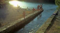 Small lake on island Mljet Stock Footage