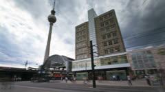 Berlin Alexanderplatz Timelapse Stock Footage