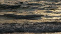 Sea waves crossing the sand beach in Caesarea Stock Footage