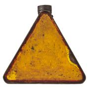 triangular vintage fuel can isolated on white - stock photo