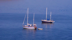 Yachts in the sea. Stock Footage