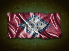 vintage arkansas flag. - stock illustration