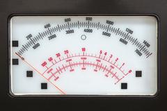 retro measurement system with analog scale - stock photo