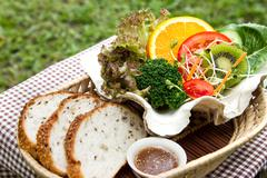 fusion food - stock photo